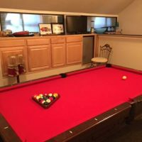 Beautiful Fischer 8 Foot Slate Pool Table