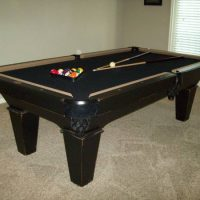 Golden West, Maddox 8' Antique Black Rubbed Pool Table