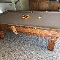 Beautiful Olhausen 8ft Oak Pool Table