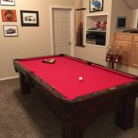 Fischer 8 Foot Slate Pool Table