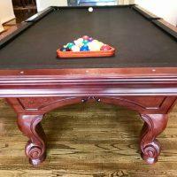 8' New Black Felt Pool Table