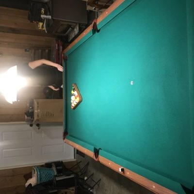 Professional league size pool table